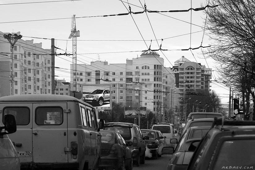 Пробка на площади Партизан