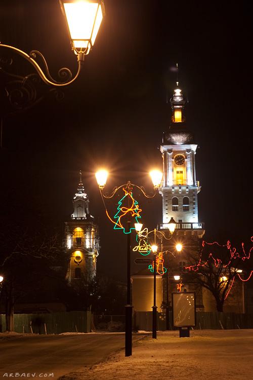 Ратуша ночью