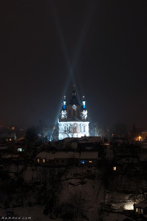 Георгиевская церковь ночью