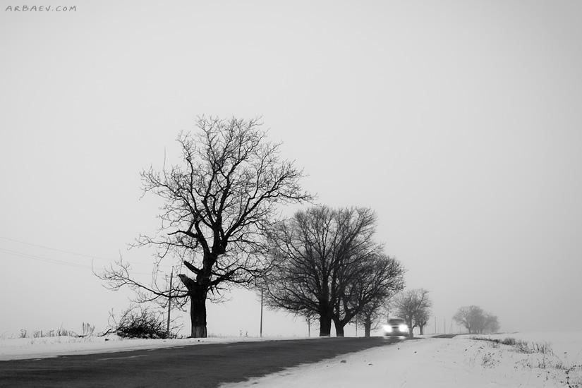 Зима на дороге