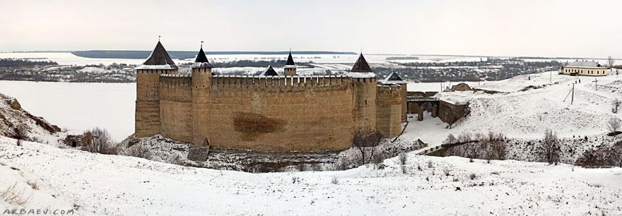 Панорама Хотинской крепости