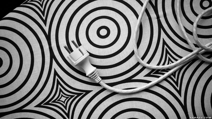 Черно-белые кружочки